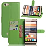 Cubot Dinosaur Wallet Case, Cubot Dinosaur Leather Case, Codream Premium PU Leather Girls Folio Stand Bumper Back Case Compatible With Cubot Dinosaur - Green