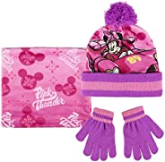 Cerdá Conjunto 3 Piezas Mickey Roadster Minnie Set de bufanda, gorro y guantes, Rosa (Rosa 001), One Size (Tam