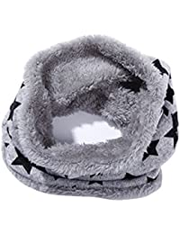 Butterme Forro Polar de Felpa Unisex de Invierno Forro Polar Pañuelo de Cuello Estrella Bufanda de Cuello Estampado
