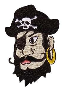 Écusson brodé thermocollant Pirate 5,5 x 6 cm - Rayher