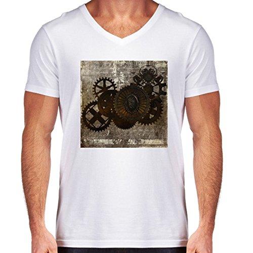 camiseta-blanca-con-v-cuello-para-los-hombres-tamano-s-steampunk-letra-by-gatterwe