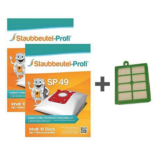 20 Staubbeutel + HEPA-Filter geeignet für AEG-Electrolux AUS 3930-3966 Ultra Silencer von Staubbeutel-Profi®