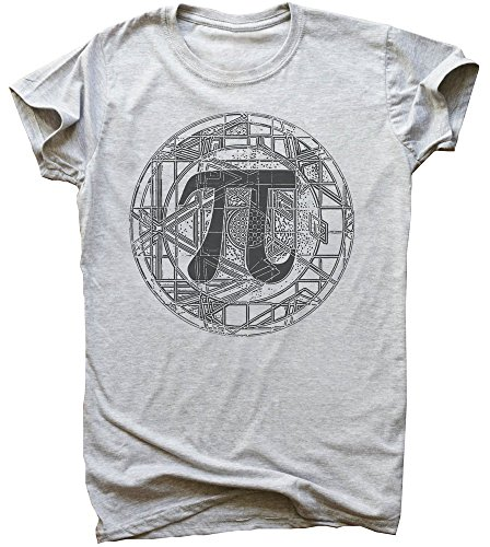 Beautiful Detailed PI Circle Design Men's T-Shirt Medium