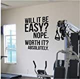 Cuisine & Maison Absolutely.motivation office Citations affiche, Gym fitness Kettlebell Crossfit Boxing décor lettres Wall Sticker décor
