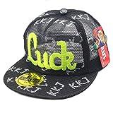 Belsen Kind Hip-Hop Affe Mesh Cap Baseball Kappe Hut (LUCK Schwarz)