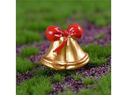 Linda Campana Navidad Miniatura Decoración Bonsai