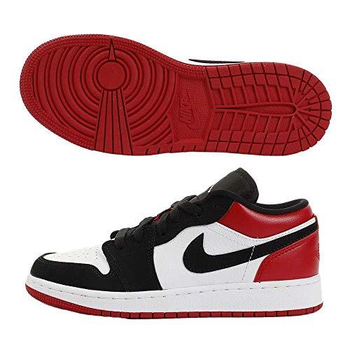 Nike Jungen Air Jordan 1 Low (gs) Basketballschuhe, Weiß (White/Black/Gym Red 116), 35 1/2 EU