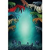 OERJU 1,5x2,2m Halloween Tema fondale Colorato Spaventoso Mostri Artigli Lapide Fotografia per Sfondo Festival Celebrazione Parti Artistico Ritratto Foto Studio Oggetti di scena Manifesto