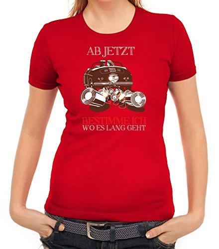 Junggesellenabschieds JGA Hochzeit Damen T-Shirt Just Married - Jetzt bestimme ich Rot