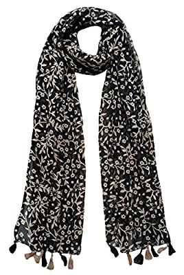 Printed Designer Set of 6 Mullticoloured stoles ; Trendy scarf stoles dupatta for Girls/Ladies / Women (F0182)