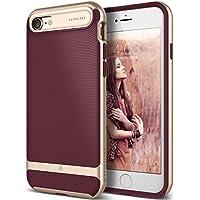 Caseology [serie Wavelength] funda delgada doble capa con protección de buena calidad y sujeción táctil 3D [Borgona - Burgundy] para el Apple iPhone 7 (2016) / iPhone 8 (2017)
