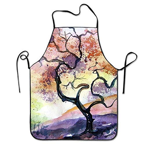 SHENGP Aprons Spray Paint for Men Stitched Edges Size 72CM x 52CM (Rote Gewebe-spray-farbe)