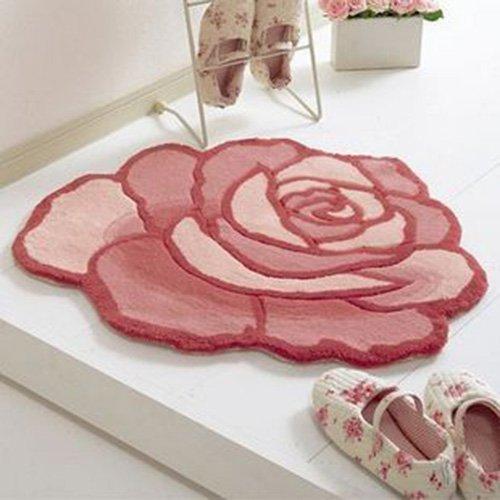 Shag Teppich, Acryl Teppich Weben Nette Blumendekoration Acryl Teppich Schlafzimmer Nachttisch Teppich Nordic Sofa Couchtisch Teppich Ztoyby (Color : #2)
