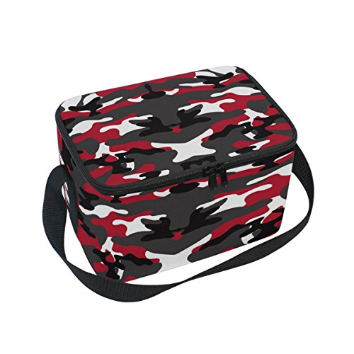 Camo Isolierte Lunch-box (doshine Camouflage Abstrakt Isolierte Lunch Box Tasche, Kühler Ice Lunch Tasche Wiederverwendbar für Männer Frauen Erwachsene Kinder Jungen Mädchen)