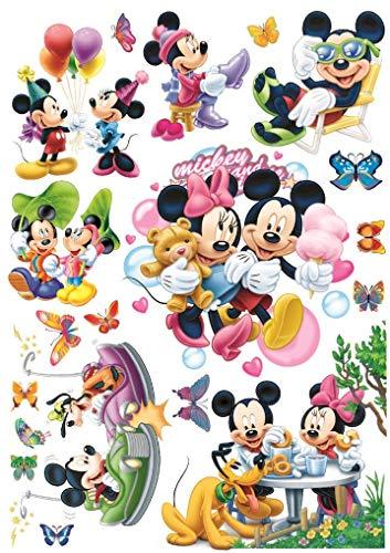 Funky Planet Wandaufkleber Luftballons Flugzeuge Autos Tiere Wandaufkleber Wanddekoration für Wohnzimmer Schlafzimmer Kinderzimmer (50x70, Mickey)