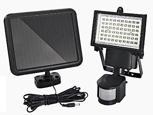 Trango LED Solar Strahler I Solar Wandleuchte I Solar Fluter TGSOL-YF60 mit Bewegungsmelder I Solar Außenleuchte I Solarlampen mit Bewegungsmelder