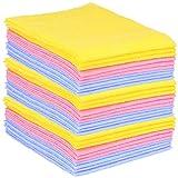 com-four® 30 Haushaltstücher, extrem saugfähige und strapazierbare Allzweck-Wischtücher aus Viskose (030 Stück - Putztücher)