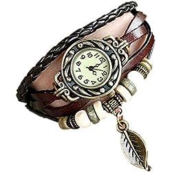 Sunnywill Vintage Uhren Armband Armbanduhren Blatt Anhänger für Frauen Mädchen Damen