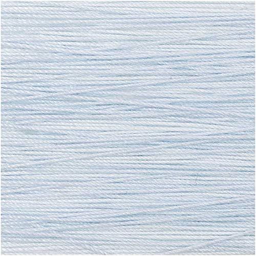 Rico Design 5g Spitzengarn - Farbe: 005 - hellblau - Häkelgarn für Taschentücher