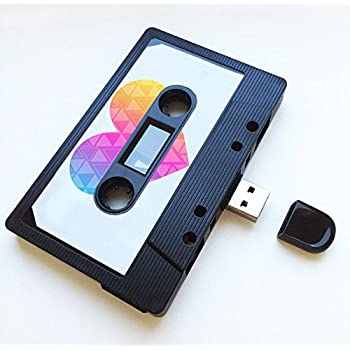 (8GB) USB Mixtape, Retro, Quirky Gift, Music, Cool, Cute, Love, Present, Boyfriend, Girlfriend, Office, Novelty, Birthday, Wedding, Anniversary, Valentines, for Her, Gifts for Him, Flash Drive