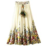 #9: Skirt (Clothfab Skirts for Women's Crepe Fabric Digital Printed Party Wear Stitched Skirt ( Multi-Colour )