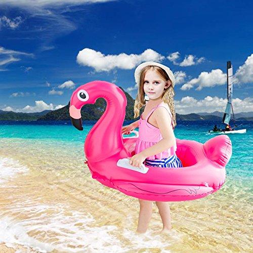 haichen Flamingo Swim Ring beliebtes Kinder aufblasbare Pool Float Spielzeug mit Sitz zum Schwimmen Lernen