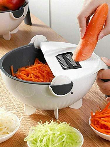 Ntribut Coupe-légumes Rotatif, Hachoir À Légumes Rotatif Multifonctionnel Et Découpeuse, Déchiqueteuse Rotative Multifonction 9 en 1, Fournitures De Cuisine