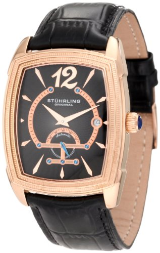 Stuhrling Original Uomo 347.33451 Classic Metropolis Taurus Automatic Date Rose Tone Orologio