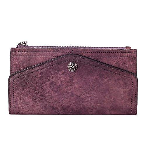 Damen Handtasche, Bvane Frauen Mode Vollnarben-Leder Handtasche 8170 (Lila)