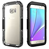 Mondpalast @ Schwarz Wasserdicht Waterproof Case Cover Hülle Tasche für Samsung Galaxy S7 S VII Edge G935F G935 5,5