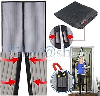 rideau moustiquaire magn tique anti moustiques mouches maison porte de balcon 240 x 140 mm. Black Bedroom Furniture Sets. Home Design Ideas