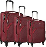 Thames Oscar Nylon Soft-Sided Luggage Set of 3 Travel Bags