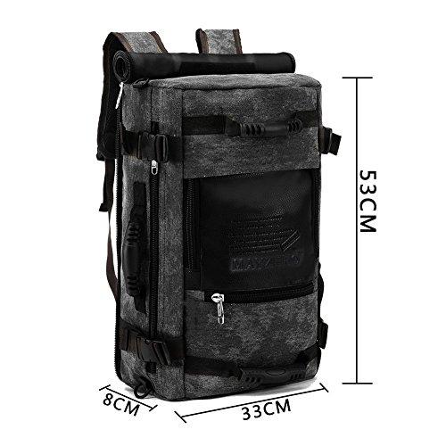 mayzero Casual Reise Rucksack Computer Rucksack Duffel Wandern Camping Taschen Schwarz