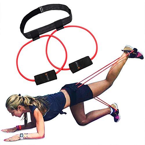 5BILLION Booty Band Workout Widerstandsbänder Gürtel - für Einen Bikini Hintern Glutes Muscle Hüftgurt verstellbares Training mit Tragetasche und Eine vollständige Übung Guide - Verstellbar Band