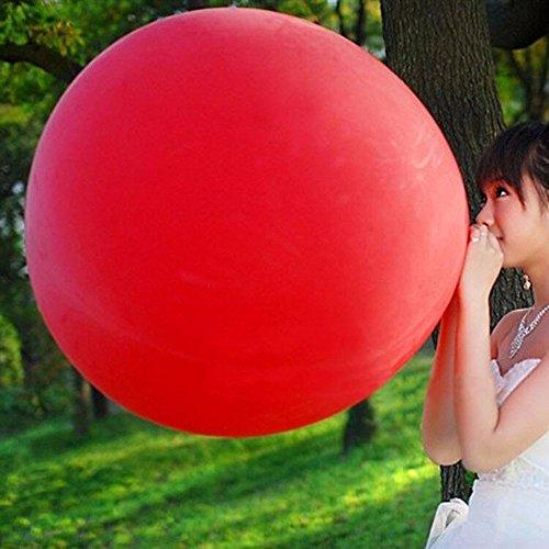 Outstanding 3pcs 36 'globos gigantes redondos multicolores del látex del globo para la decoración de la fiesta de cumpleaños de la boda