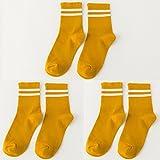 Socken weibliche koreanische Version des Barrel Socken aus reiner Baumwolle socken Herbst und Winter College Baseball Fan, das Licht des Tages der storehouse Socken Socken, alle Codes, die beiden Pole, und Ingwer gelb 3 2