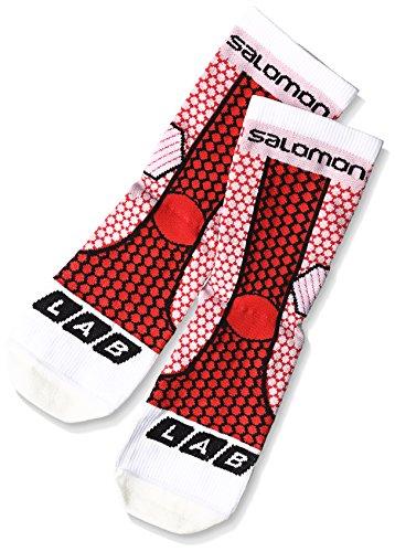Salomon S-Lab Exo 11449 Unisex Laufsocken, white/racing red/black, Gr. 39-41 / M (Racing Unisex Schuhe)