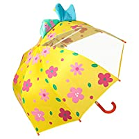 VON LILIENFELD® Umbrella Children Boys Girls Motif 3-D Flowers (up to Age 8)