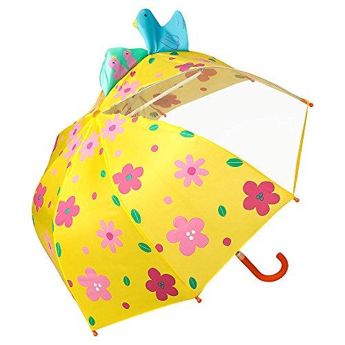 Von lilienfeld® ombrello ragazzi ragazze bambini motivo prato di fiori (fino a 8 anni)