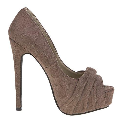 Damen Schuhe, 28152, PUMPS Braun 28152
