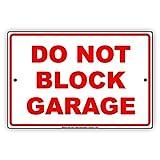 Nicht Block Garage rot Buchstaben Parking Eigentum Beschränkung wachsam, Aufmerksamkeit Vorsicht Achtung Hinweis Aluminium Metall blechschild Teller 12