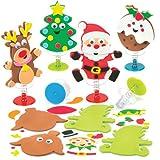 Bastelsets Weihnachten mit Hüpffunktion ALS lustiges weihnachtliches Spielzeug zum günstigen Preis – perfekt ALS Kleine Party-Überraschung für Kinder (6 Stück)