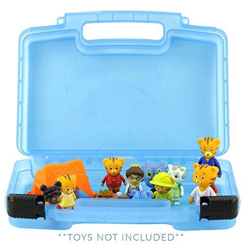 Life made better giocattolo stoccaggio organizzatore - compatibile con daniel tigri quartiere giocattoli-- blu