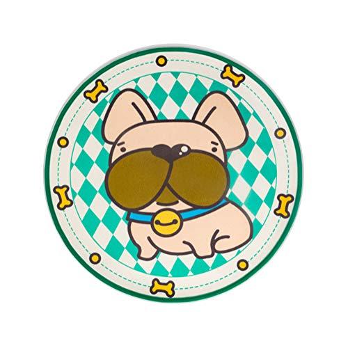 NLYR-Pet Mat Hundetraining Mat Runde Haushalt Pad Atmungsaktive wasserdichte Pet Bowl Fütterung Tischset, Natural,M