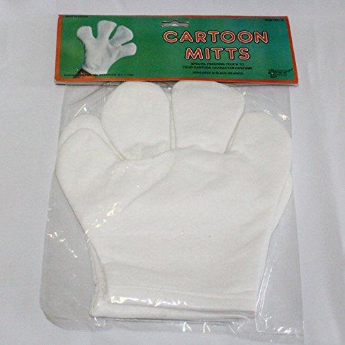 Comic Maus Handschuhe, Filz (Cartoon-handschuhe Weiß)