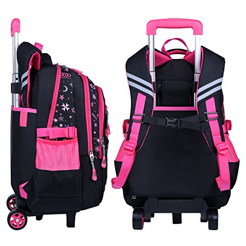Rolling Backpack,COOFIT Wheeled Trolley Backpack Children's Backpack School Bags Backpacks with Wheels