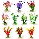 10 x Plantes artificielle en plastique Ornement pour Aquarium Fish Tank-Style aléatoire