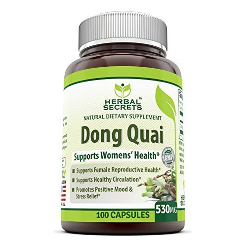 Herbal Secrets Dong Quai 530 Mg 100 Capsules -promoted healthy circulation * promotes positive mood and stress relief *