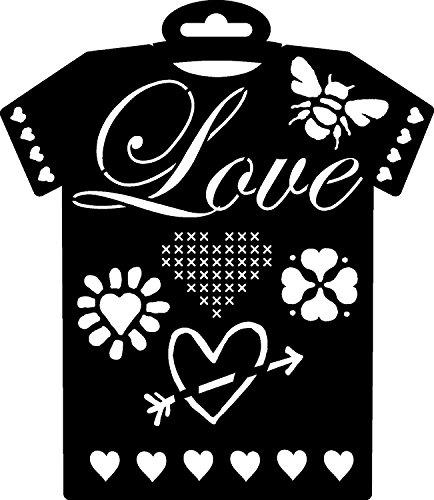 pronty-textil-schablone-t-shirt-love-236x205mm-love-herz-biene-fruhling-valentinstag-basteln-schablo