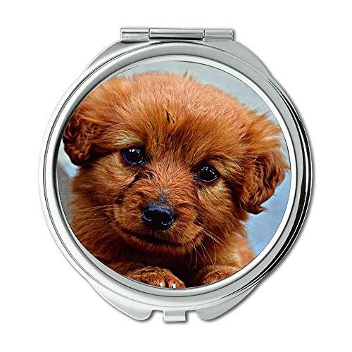 Yanteng Spiegel, Make-up-Spiegel, Tier Hund Welpen Niedlich, Taschenspiegel, Tragbare Spiegel